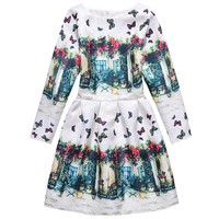 Summer Children Girls Princess Children Dress Brand Multcolor 2017 Spring Print Butterfly For Girl S Kids