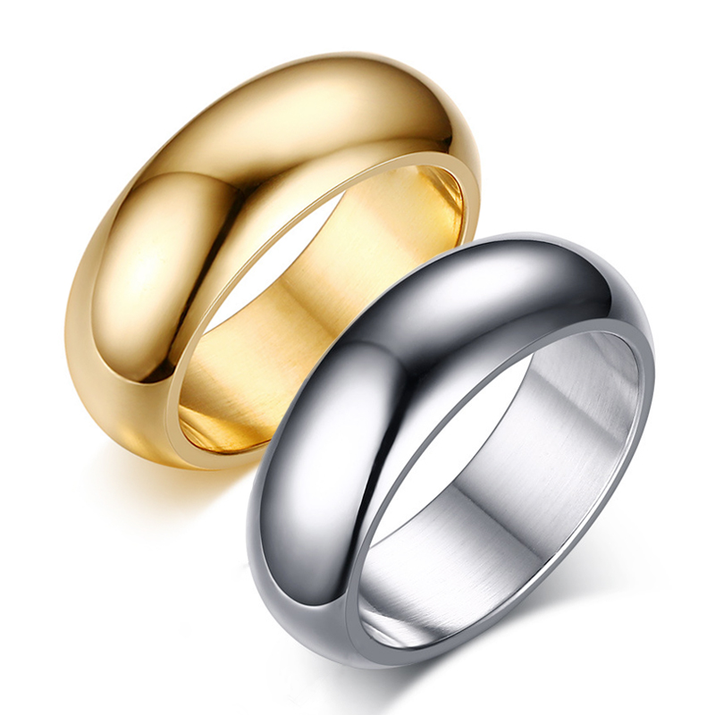 Beiliwol Rings for Mens Rose Gold Color Titanium Steel Jewelry ...