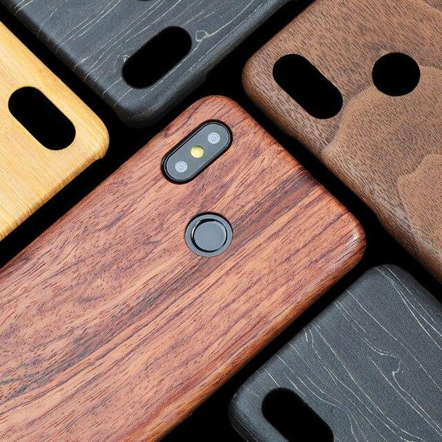 Per Xiaomi Mi 11 /POCO F3 F2 /mix 2s/mix 3 /mi 10 /9T/K40 Pro noce enonia legno bambù palissandro mogano Cover posteriore in legno