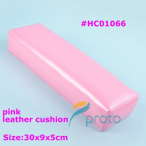 Freeshipping-Rectangular Pink Leather Hand Cushion Soft Pillow Nail Art Manicure Tool Dropshipping [Retail] SKU:F0068