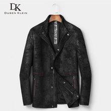 Men Genuine Leather Jackets Male Real Sheepskin Jacket 2018 New Matte Velvet Leather Coat Fashion