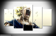 Artistic originality  Vegeta dragon ball-z anime print poster canvas in 5 pieces 20x35cmx2,20x45cmx2,20x55cm