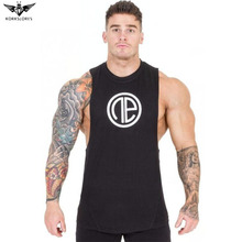 KORKSLORES NEW Men's Fitness gyms Vest Men Muscle Sleeveless Shirt Tank Top Bodybuilding T-shirt Vest white, black, dark gray