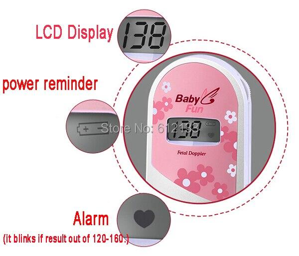 Factory Price CE&FDA BabyFun Ultrasonic Pocket Fetal Doppler, Prenatal monitor, baby heart monitor, detector