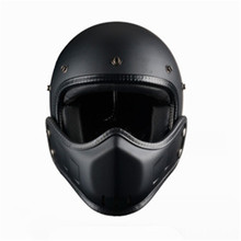 Retro Harley open helmet male personality cool off-road locomotive combination full face electric car casco four