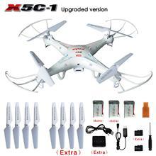 Original SYMA X5C/X5C-1 Exploradores 2.4G 4CH 6-Axis Gyro RC Quadcopter com Câmera HD + Extra 2 pcs baterias + Pás Da Hélice + 4 GB