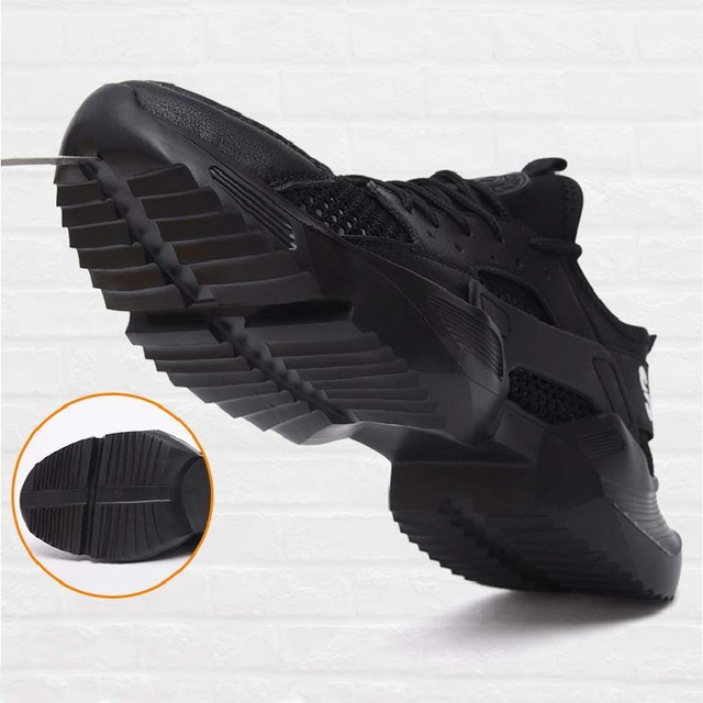 New exhibition Work Safety Shoes 2019 fashion sneakers Ultra-light soft bottom Men Breathable Anti-smashing Steel Toe Work Boots 4