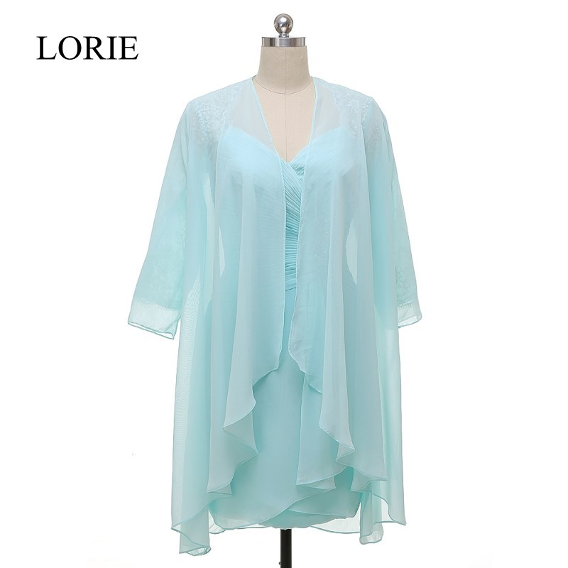 Plus Size Mint Mother Of The Bride Dresses With Jacket