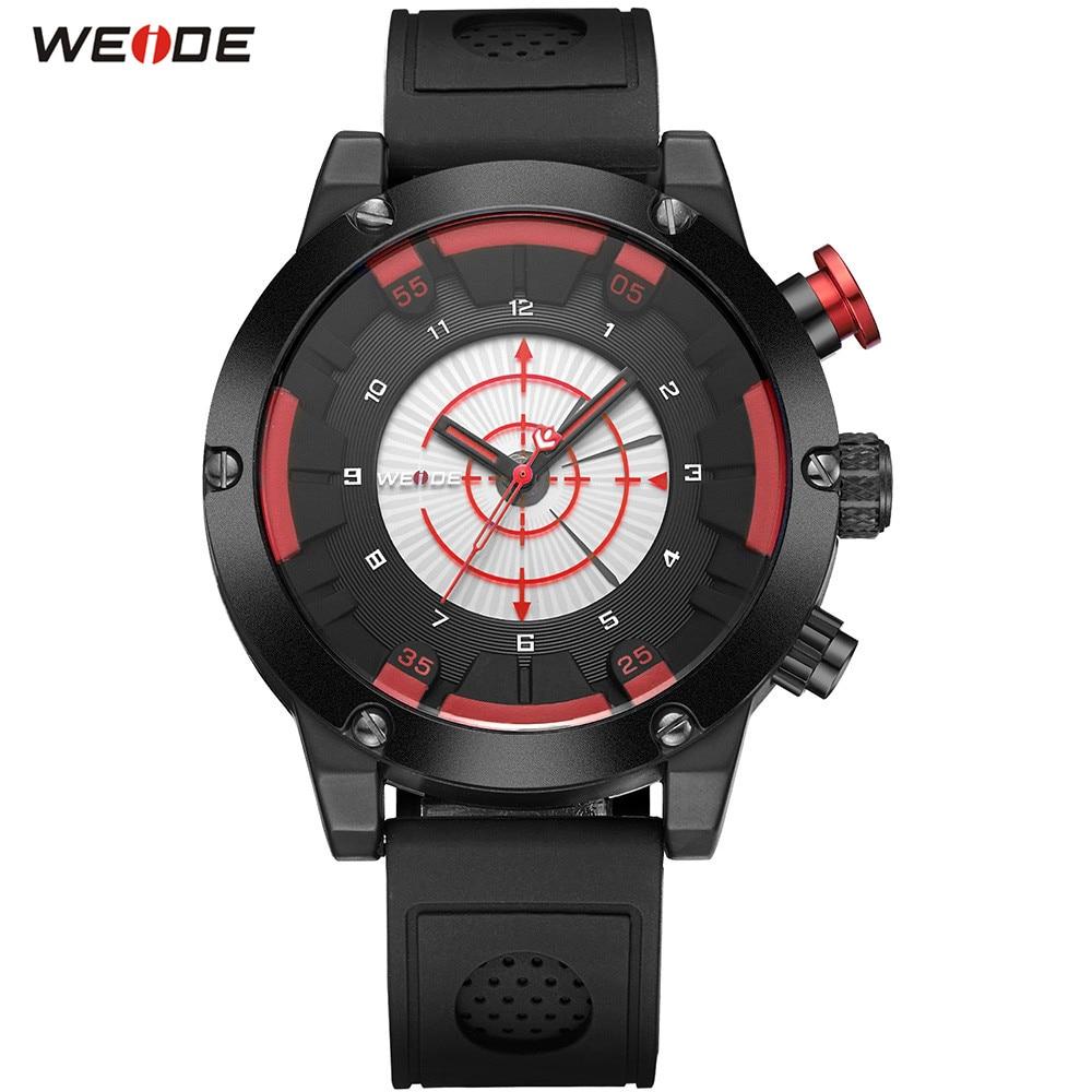Fashion Top Sale WEIDE Men LED Black Red Analog Watch Sports Watch Mens Digital Quartz Rubber Band Army Wristwatch Male Relogios цена и фото