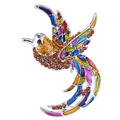 Crystal big colorful bird silver plated brooch pins Animal brooch pins fashion vintage jewelry trendy gift
