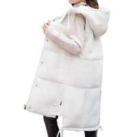 Autumn Winter Spring Vest Women Waistcoat 2019 Female Sleeveless Jacket Hooded Warm Long Vest Colete Feminino Plus Size 5XL