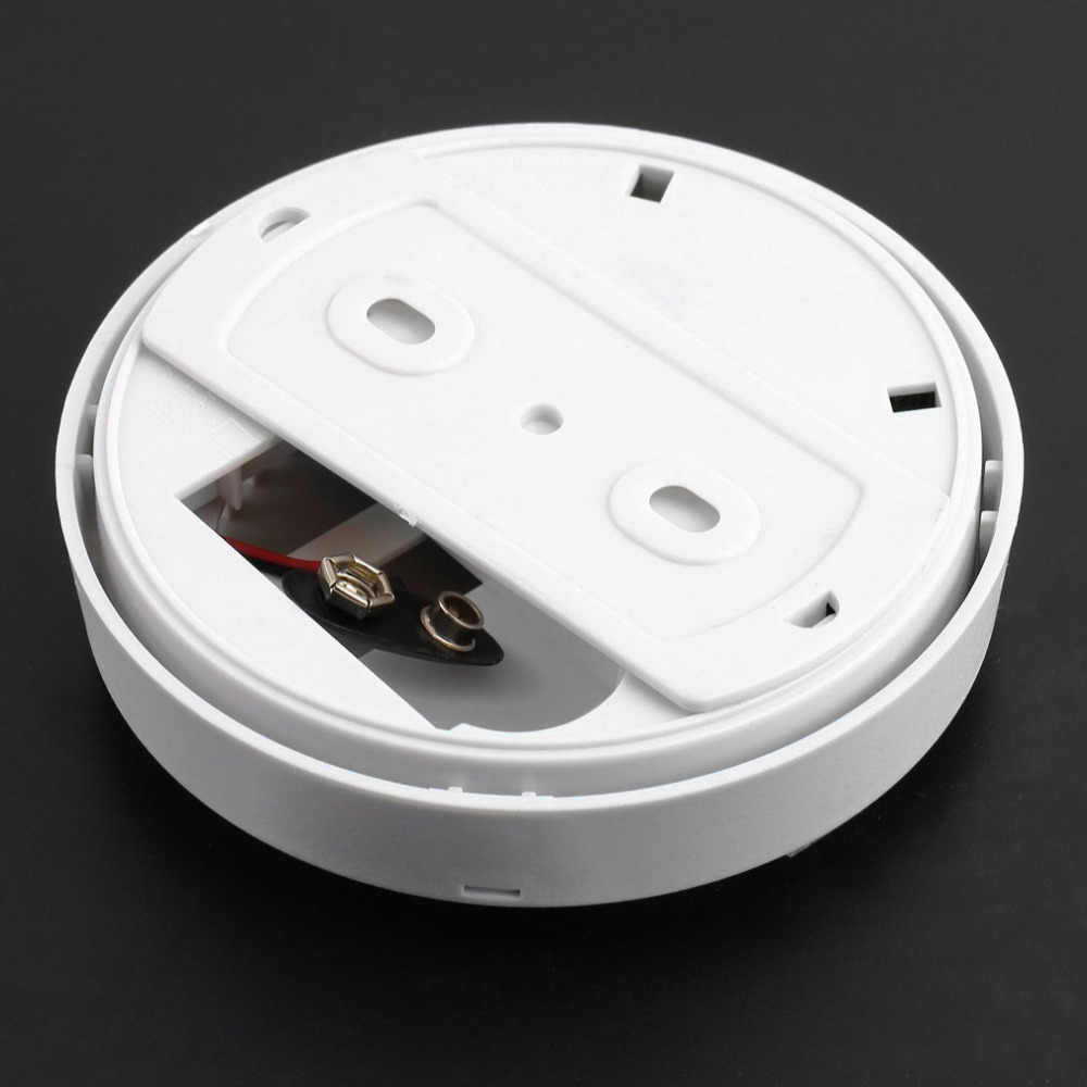 85dB เสียง Fire Smoke Sensor เครื่องตรวจจับเครื่องทดสอบระบบรักษาความปลอดภัยภายในบ้านไร้สายสำหรับห้องครัว/ร้านอาหาร/โรงแรม/ cafe