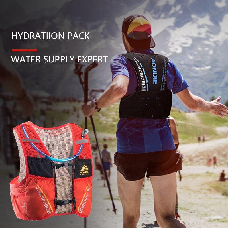 AONIJIE C933 kit d'hydratation Sac À Dos Sac À Dos Sac Gilet Harnais D'eau de La Vessie Randonnée Camping Courir Marathon Course Escalade 5L - 6
