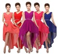 Wholesale latest sexy v neck chiffon coral high low bridesmaid dress wedding party bridesmaid dresses under $ 50 Fast Shipping