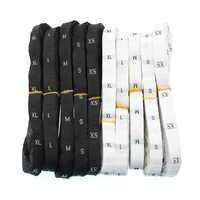 Kleidung Label Größe Anzug Gewebtes Etikett XS-3XL Weiß Schwarz 30 Mm (1,18 Zoll) X 12 Mm (0,47 Zoll) 1 Rolle (Über 480 stücke-500 stücke)