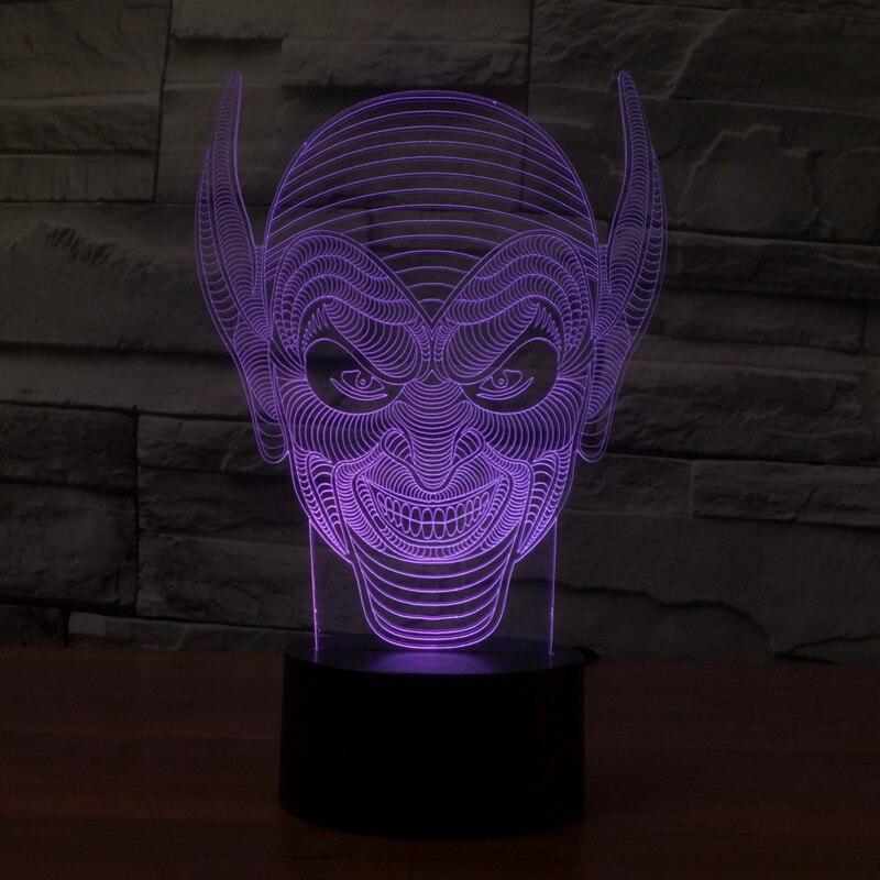 длинные уши монстр красочные 3d светильник светодиодный