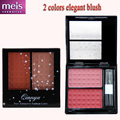 quality blush 2 color cute blusher palette blush palette makeup maquiagem with  brushes Free shippong MS002