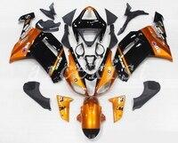 New Abs Fairings Kit Fit for kawasaki Ninja ZX6R 636 2007 2008 07 08 6R ZX 6R 600CC Bodywork set custom Orange black