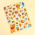 1 Sheets Cartoon Bears Honey Scrapbooking Bubble Puffy Stickers Kawaii Emoji Reward Kids Toys Factory Direct Sales free shipping