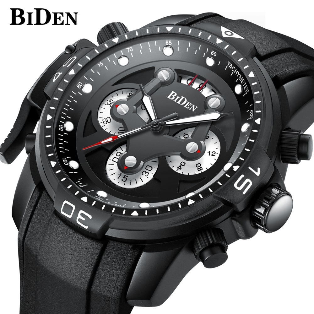 все цены на Fashion Mens Watches Top Brand Luxury Quartz Watch Men Silicone strap Chronograph Sport Military Wrist watches Male Clock