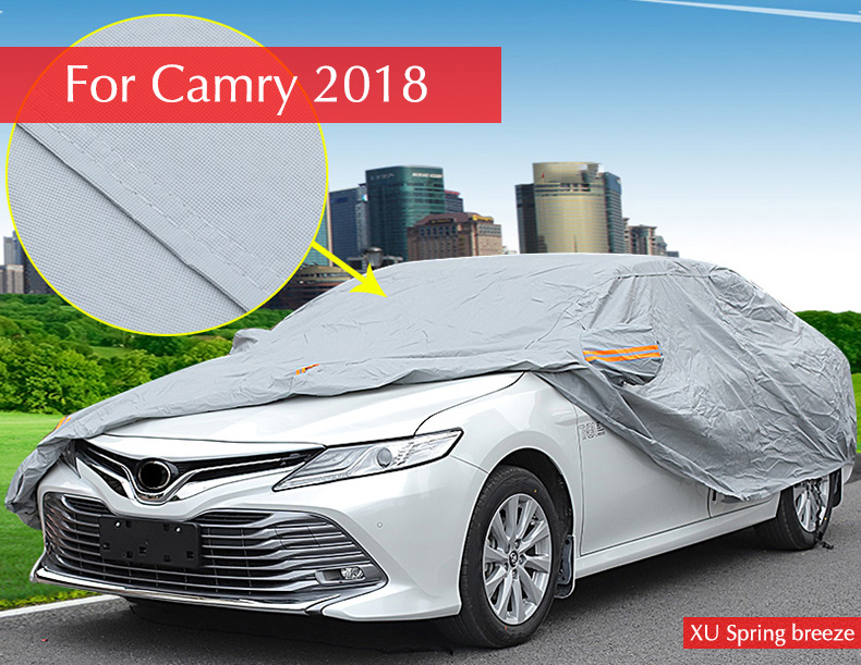 Combinaison de voiture Anti-pluie résistant à la neige imperméable à l'eau en plein air voiture calque style de voiture pour Totyta 2017 2018 Camry