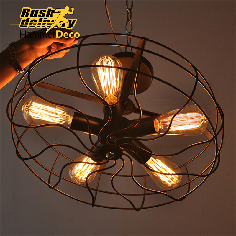 fan american retro industrial light antique lampshade bar top restaurant cafe do old color single head lighting e