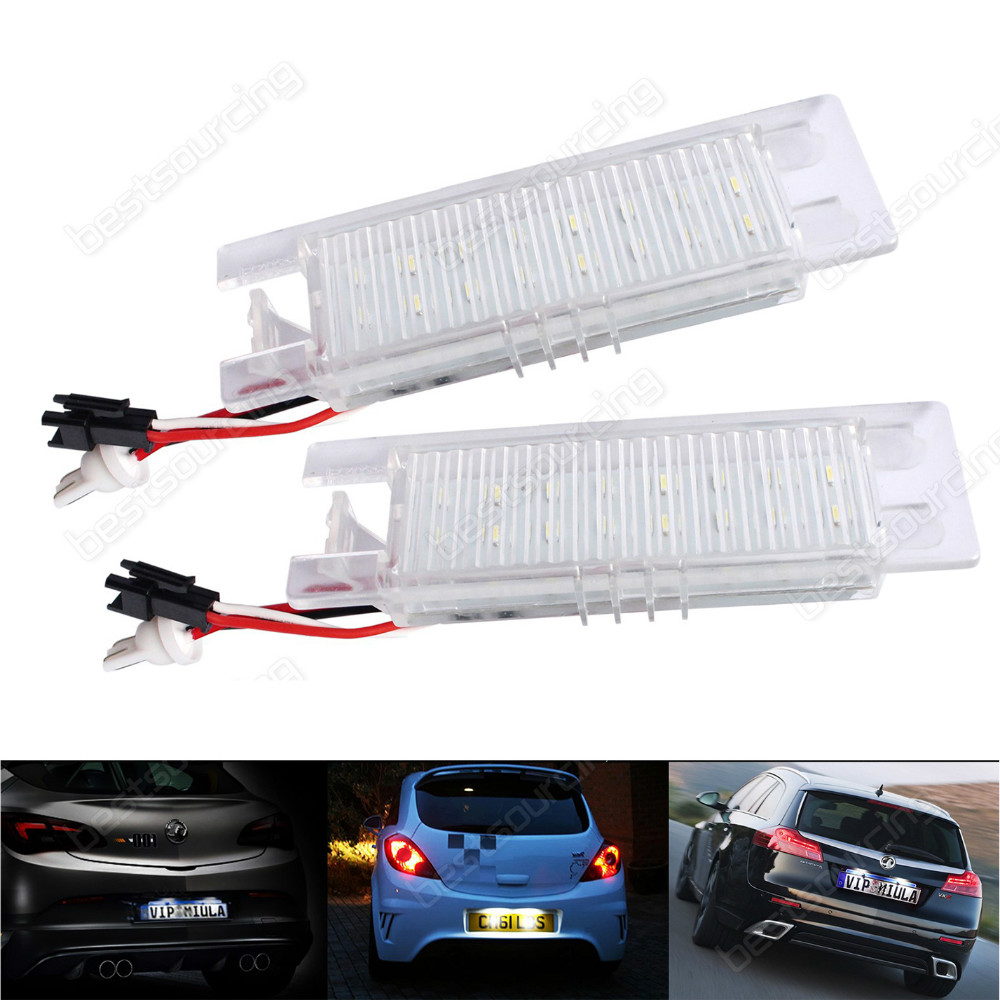 LED Licence Number Plate Light Vauxhall Opel Astra H J Corsa C D Insignia Meriva (Fits: More than one vehicle)(CA216) багажник на крышу атлант daewoo nexia ford sierra ford fiesta opel corsa opel kadett opel astra mitsubishi carisma mitsubishi colt mitsubishi galant дуга 20х30 сталь 8923