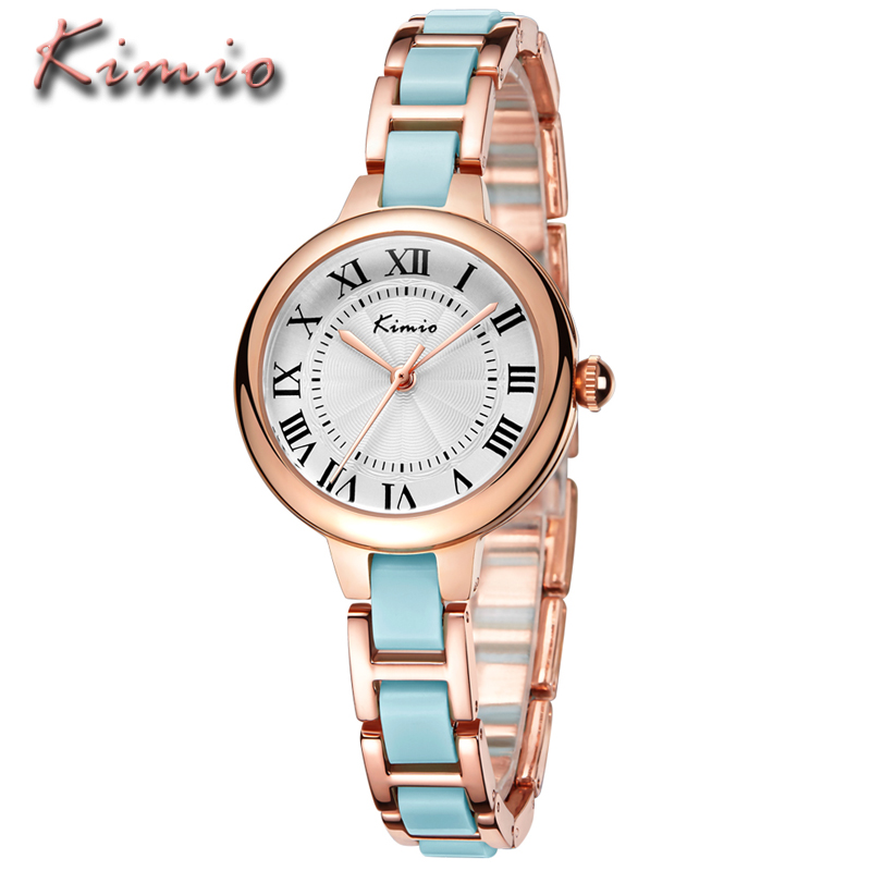 KIMIO Ladies Watches Top Brand Luxury Women Fashion Casual Dress Ceramic Bracelet Waterproof Quartz Wristwatch Relogio Feminino сортеры keenway аналог 31524 уточка с паззлами звук свет фигурки
