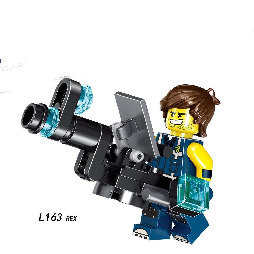 Single Sale Compatible LegoINGlys Cartoon Movie REX EMMET MELOOY Tempo Disco Figures Bricks Building Blocks Toys Children Gift