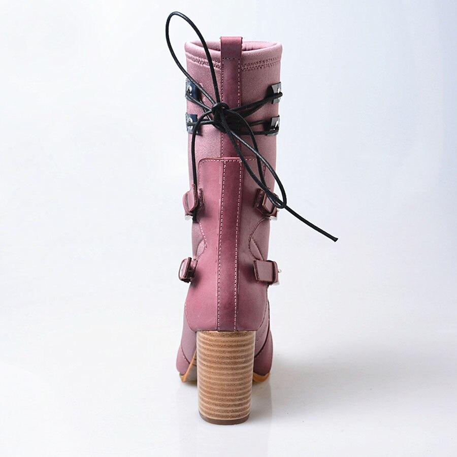 In Leather purple Stiefel Short Echtem Schnalle High Hohe Purple Heels Aus Prova Chelsea Plush Qualität In Perfetto Frauen Handgemachte Patchwork Design Neue Leder wq8UHR4