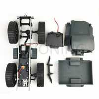 All terrain rubber track wheel robot chassis military truck 4WD climbing DIY modified car kit