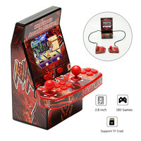 Portable Retro Mini Classic Arcade Handheld Game Console Support Doubles 2.8 inch LCD Color Screen Game Arcade Builtin 183 Games