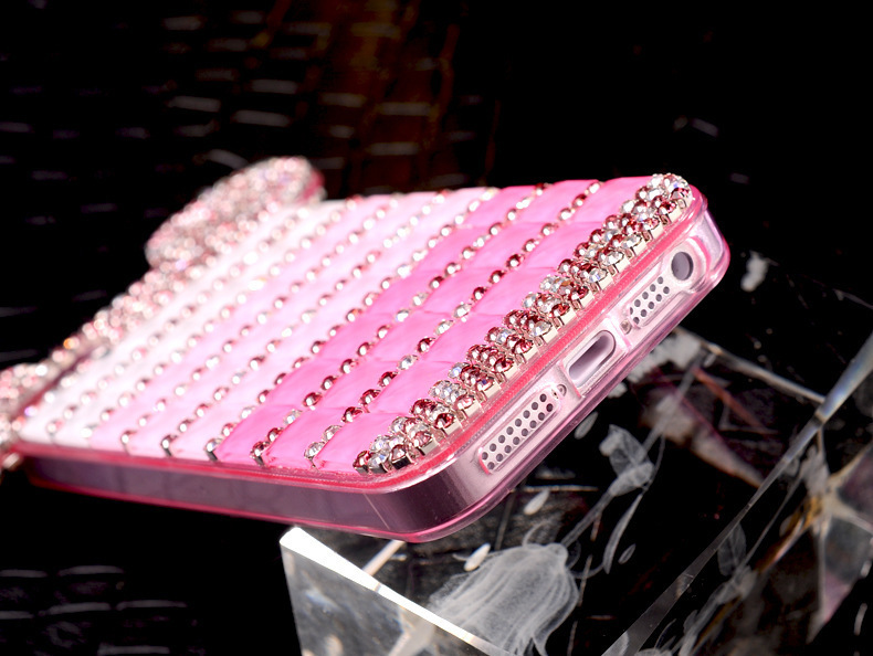 YESPURE Fancy Bling Berlian Mouse Ears Kasus Telepon Mewah untuk - Aksesori dan suku cadang ponsel - Foto 5