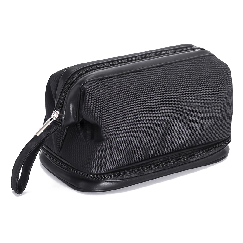 Double-deck Waterproof Cosmetic Bag Men Wash Shaving Travel Organizer Bag Necessaries Large Capacity Women Toilet Makeup Bag