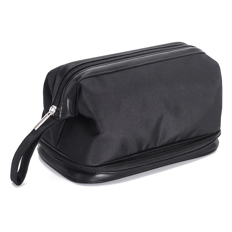 Double-deck Waterproof Cosmetic Bag Men Wash Shaving Travel Organizer Bag Necessaries Large Capacity Women Toilet Makeup Bag