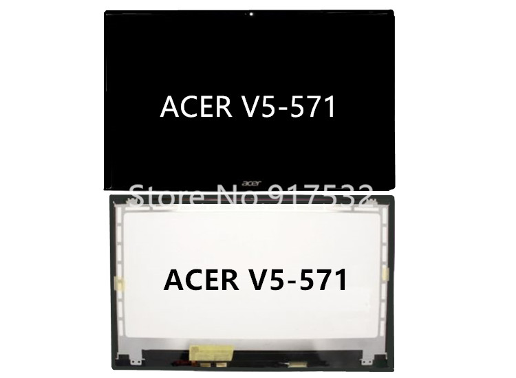 V5-571P LCD assembly Touch For Acer 15.6 Tested 100% Good Condition new 15 6 for acer aspire v5 571 v5 571p v5 571pg v5 531p touch screen digitizer glass replacement frame