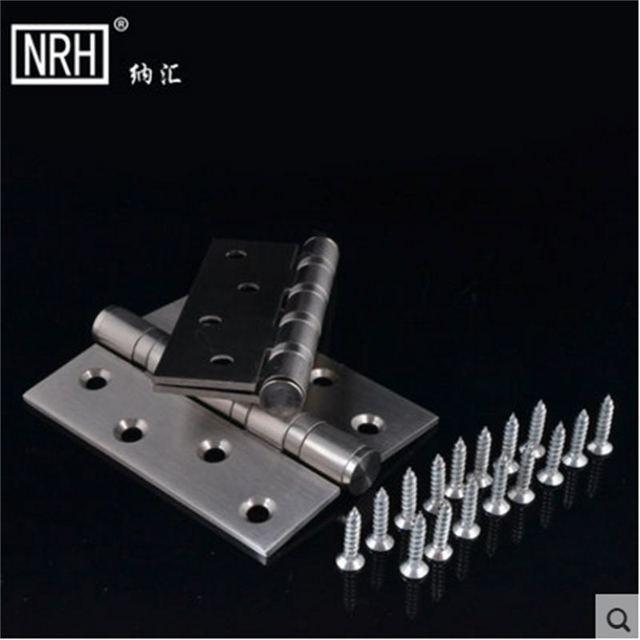 NRH8401-16-18-27 4 pulgadas bisagra Pequeña bisagra de la puerta de acero inoxidable Bisagras de La Puerta 201 de acero inoxidable