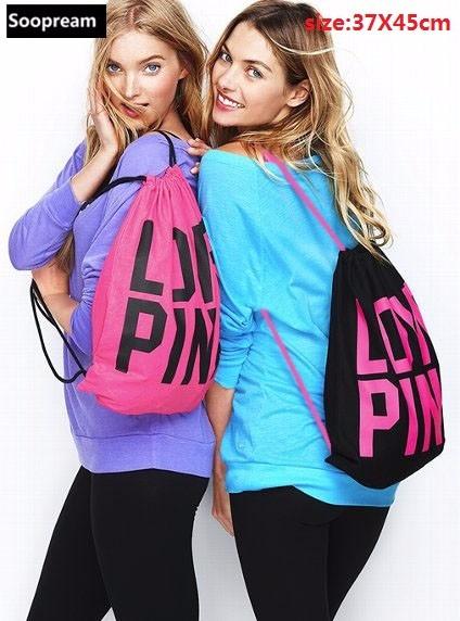 """Värviline kirjaga """"Love pink"""" seljakott"""