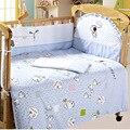 Rosa 100% algodón conjunto edredón almohada hoja de cama de parachoques protector de parachoques bebé bedding 6 artículo cuna bedding set funda de colchón