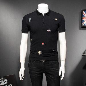 Image 5 - Мужская рубашка поло с цветочным принтом, размеры M 4XL/5XL