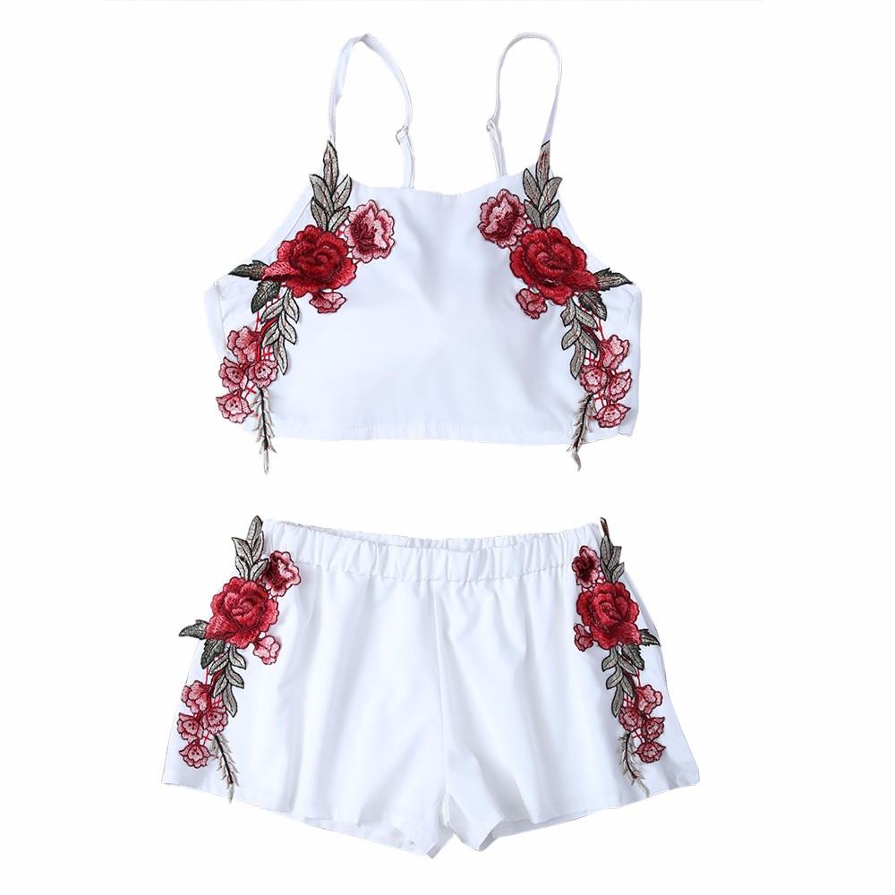 HTB1d9wwPXXXXXanXVXXq6xXFXXXu - FREE SHIPPING Women Suits Rose Tops Summer Playsuit Sets JKP038