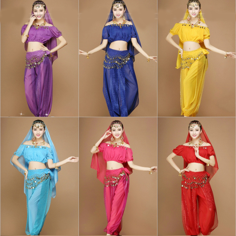 cheap belly dance costumes 4 pieces set including belly