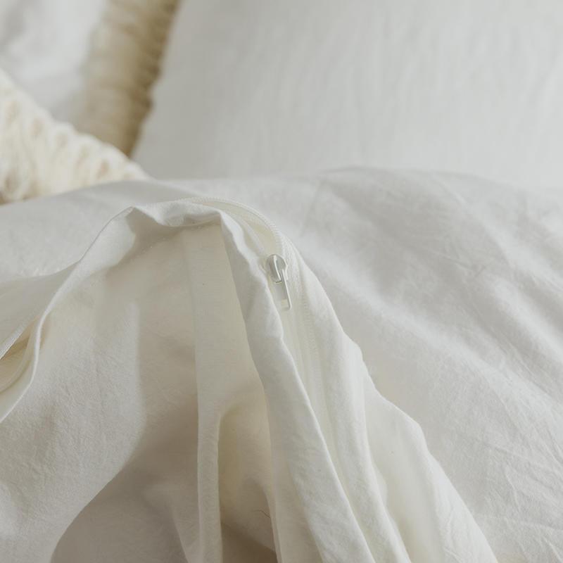 สีขาวสีชมพูสีเทาชุดเครื่องนอน Twin เตียง Queen ชุดผ้าฝ้ายผ้านวมผ้าคลุมเตียงแผ่นติดตั้ง parure de lit ropa de cama-ใน ชุดเครื่องนอน จาก บ้านและสวน บน   2