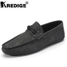 KREDIGE Мужчины Дышащей Обуви Комфортно ПУ Мокасины Удобная Браун Досуг Горох Обувь Износостойкой нескользящей Мужские Плоские обувь