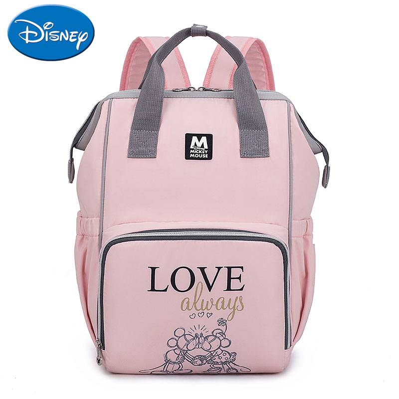Disney New Large Capacity USB Waterproof Diaper Bag Oxford Cloth Insulation Bag Bottle Feeding Storage Bag