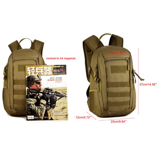 12L Tactical MOLLE Army Outdoor Sports Pack Waterproof Backpack School Bags Kids Mini Military Rucksack Children Travel bag 3