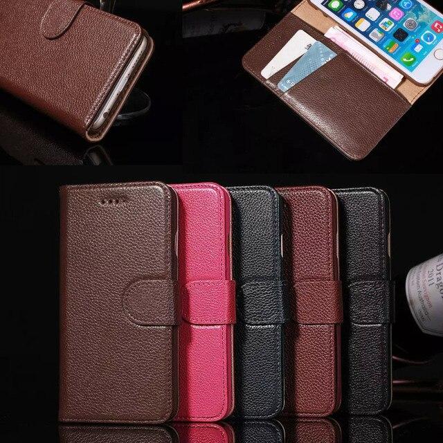 c503af780b Fundas Cas Pour iPhone 6 et 6 S Véritable Couverture En Cuir de luxe Portefeuille  Homme