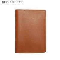 KUDIAN BEAR Brand Passport Cover Rfid Waterproof Passport Holder Travel Card Holder Wallet For Documents BIH040