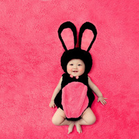 S02-X040 Newborn Baby Girls Boys Photography Photo Props children's clothing cute animal theme rabbit bodysuit
