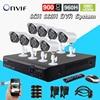 CCTV 8ch System Surveillance Full AHD L 960H NVR DVR System 8pcs 900TVL Outdoor Waterproof Camera